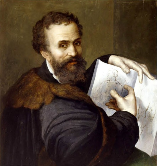 Sebastiano del Piombo (aka Ridolfo Ghirlandaio):  'Portrait of Michelangelo'  (1536)