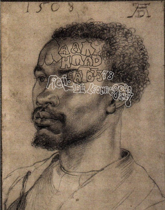 Dürer 'Head of an African Man' (1508): Leonardo's son