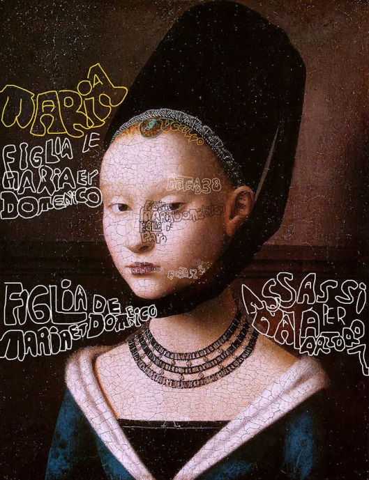 Petrus Christus 'Portrait of a Young Girl' (1453): murdered by Arturo