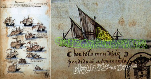 Simão Dias 'Livro das Armadas - Pedro Alvares Armada, 1500' (1505) - Bartolomeo's son says his dad stole the ship that everyone thought had sunk, and took it to Hispaniola, where he was the Governor, arriving opn the 21 July, 1500.