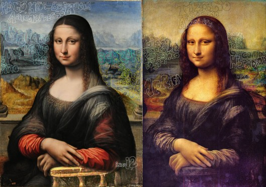 Left: Salai 'Mona Lisa' (1512)... Right: Leonardo da Vinci 'Mona Lisa' (1512