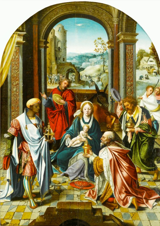 Antwerp School 'Adoration of the Magi' 1535