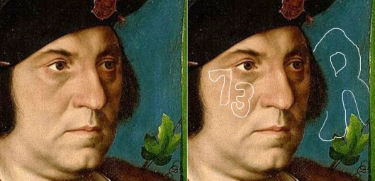 Holbein 'Sir Henry Guildford' detail of face