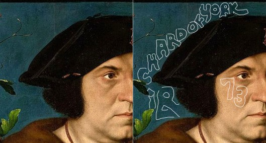 Holbein 'Sir Henry Guildford' detail of head