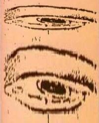 Leonardo da Vinci 'Anamorphic Eye' 1485