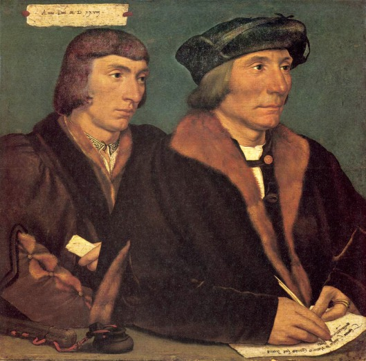 Hans Holbein the Younger 'Sir Thomas Godsalve and his Son John' 1528