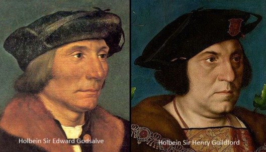 Two portraits by Holbein, 1527 and 1528.