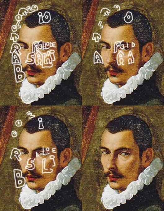 Bartolomeo Passarotti 'Domenico Giuliani and his Servant': detail of servant's face.