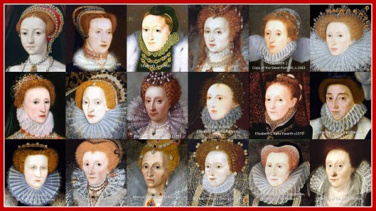 A collection of portraits of Elizabeth I and Elizabeth of Hardwicke
