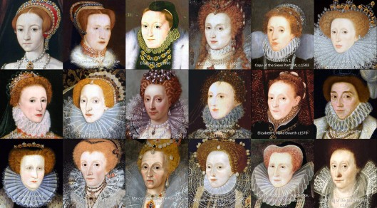 A collection of portraits of Elizabeth I and Elizabeth of Hardwick