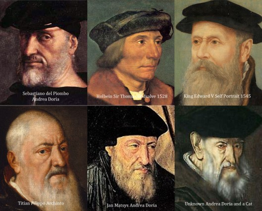 Composite of 6 portraits of Edward V