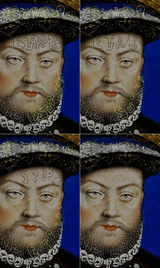 Nicholas Hilliard 'Henry VIII': detail of face.