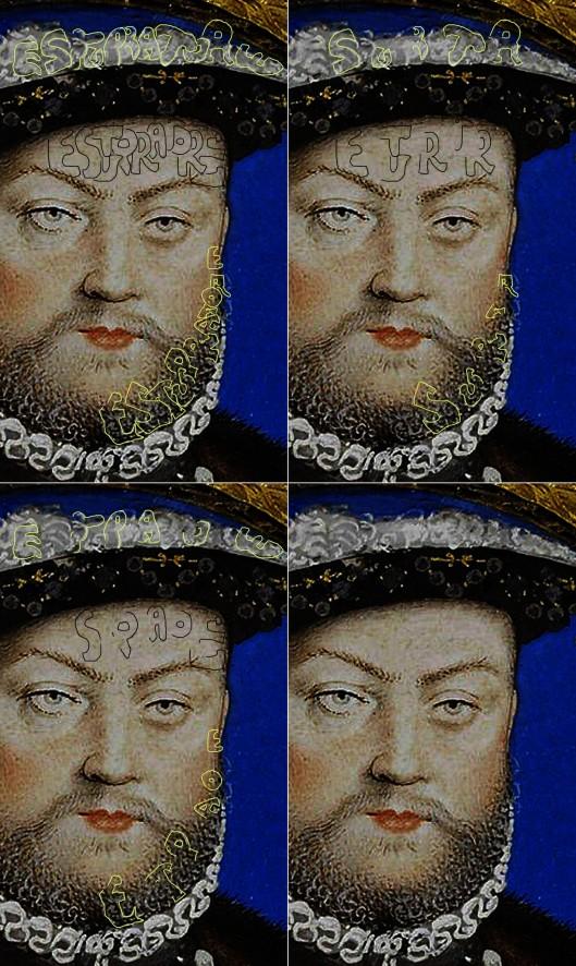 Nicholas Hilliard 'Henry VIII': detail of face.