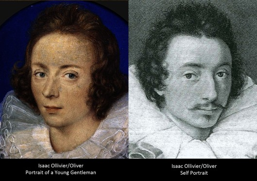 Isaac Oliver 'Portrait of a Young Gentleman', and a self portrait.