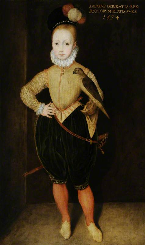 Rowland Lockey 'King James VI of Scotland', 1574