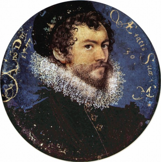 Nicholas Hilliard Self Portrait at age 30.