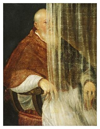 Titian: 'Cardinal Filippo ARchinto', 1558, veiled version.